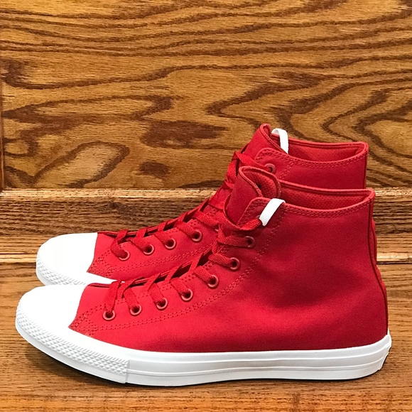 3ef8eafbbf4 Converse CT II Hi High Salsa Red White Shoes